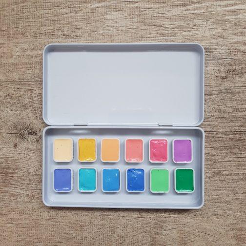 Watercolour | Paint | Palette | Mixing | Watercolor | Travel | Urban Sketching | Art | ShinHan Hand-Pour | Handmade
