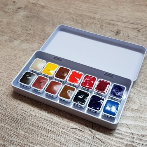 The Ultimate Mixing Palette Jane Blundell - Daniel Smith Watercolor Paint Set - 14 Colors - 1