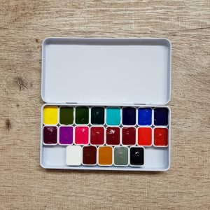 Anna Mason Botanical Watercolor Paint Set – 21 Colours