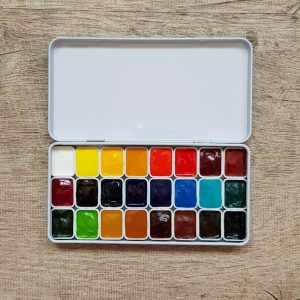 Watercolor Set – 24 Colors with Artist Grade Da Vinci Watercolours