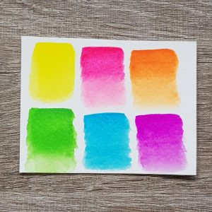 Neon Fluorescent Watercolor Paint Set – 6 Colors
