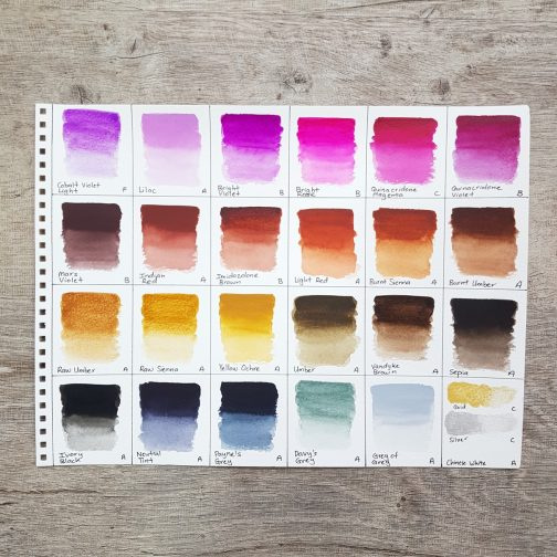 Watercolour | Paint | Palette | Mixing | Watercolor | Travel | Urban Sketching | Art | Holbein Artist Watercolor Paints