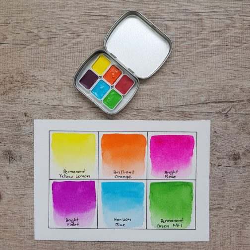 Watercolour | Paint | Palette | Mixing | Watercolor | Travel | Urban Sketching | Art | Holbein Hand-Pour | Handmade