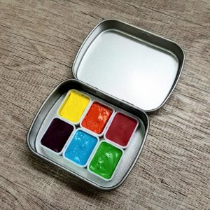 Holbein Watercolor Paint Set – Summer Neon Colors – Set of 6 Vibrant, Happy, Cheerful Summer Colors!