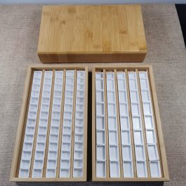 Extra Large Wooden Watercolor Storage Box – Hand made – Including 70 Half Pans – Paint Storage – Very limited stock