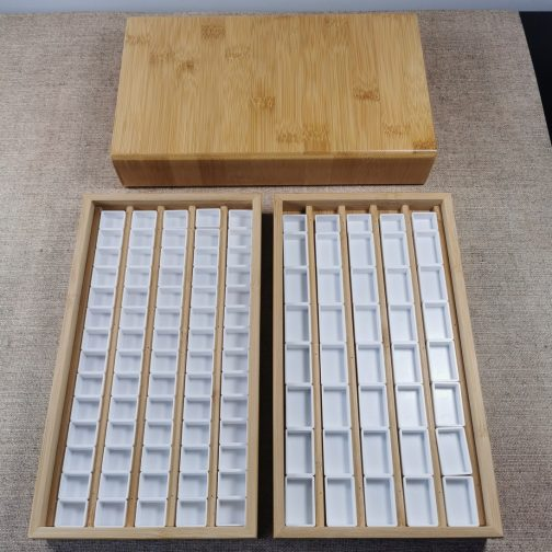 Wooden Box   Watercolour   Watercolor   Storage   Paints   High Quality   Bamboo   Pans   Painting   Coloring