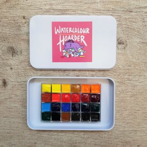 24 White Night Watercolor Travel Palette Set