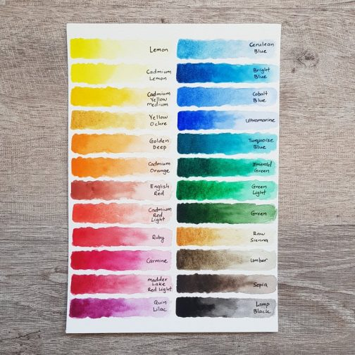 Watercolour   Paint   Palette   Mixing   Watercolor   Travel   Urban Sketching   Art   White Knight Hand-Pour   Handmade