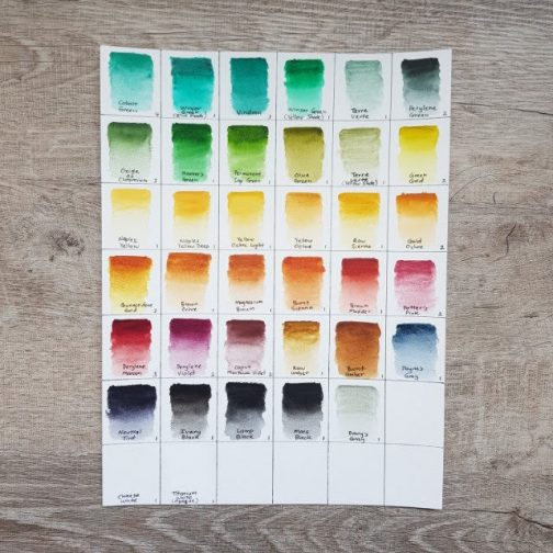 Winsor & Newton | Watercolour | Paint | Palette | Mixing | Watercolor | Travel | Urban Sketching | Art | Holbein Artist Watercolor Paints