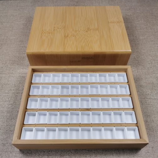 Wooden Box | Watercolour | Watercolor | Storage | Paints | High Quality | Bamboo | Pans | Painting | Coloring
