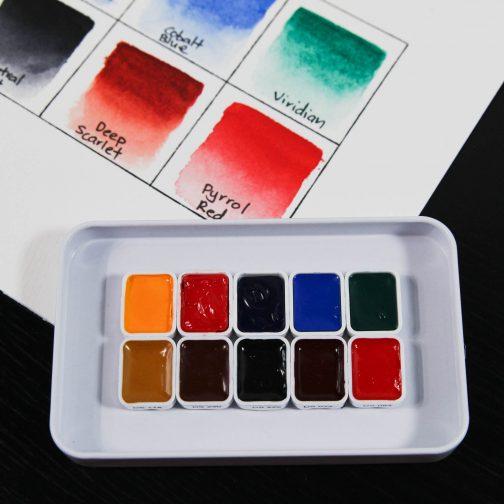 Alvaro Castagnet | Watercolour | Paint | Palette | Mixing | Watercolor | Travel | Urban Sketching | Art | Daniel Smith Hand-Pour | Handmade