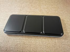 Black Watercolor Travel Palette – Including Full, Half or Qtr Pans
