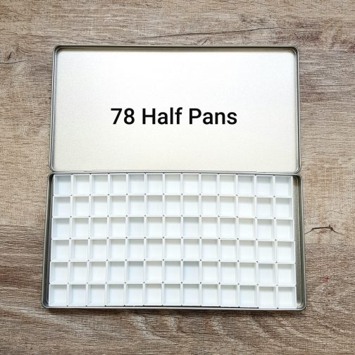 Tin Box   Watercolour   Watercolor   Storage   Paints   High Quality     Quarter Half Pans   Painting   Coloring