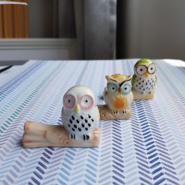 Kawaii Owls – Brush Rest – Owl Figurine – Calligraphy Holder – Chopstick Rest