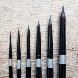 Black Velvet Silver Brush – Round – 3000S – Watercolor Brush